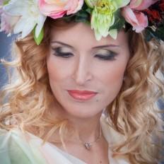 romantischer Blumen-Look